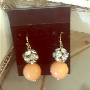 Jewelry - Peach ball & Stone earrings